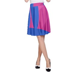 Magenta And Blue Landscape A Line Skirt by Valentinaart