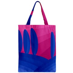 Magenta And Blue Landscape Zipper Classic Tote Bag by Valentinaart
