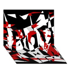 Red, Black And White Chaos Boy 3d Greeting Card (7x5)