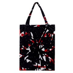 Black, Red And White Chaos Classic Tote Bag by Valentinaart