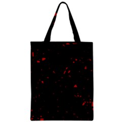 Black And Red Zipper Classic Tote Bag by Valentinaart
