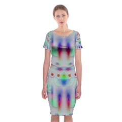Rainbows In The Moonshine Classic Short Sleeve Midi Dress by pepitasart