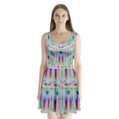 Rainbows In The Moonshine Split Back Mini Dress  by pepitasart