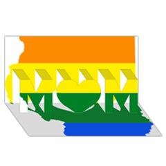 Lgbt Flag Map Of Illinois Mom 3d Greeting Card (8x4) by abbeyz71
