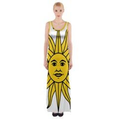 Uruguay Sun Of May Maxi Thigh Split Dress