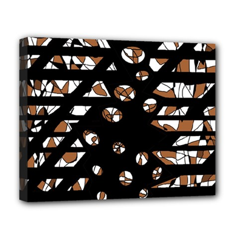 Brown Freedom  Deluxe Canvas 20  X 16   by Valentinaart