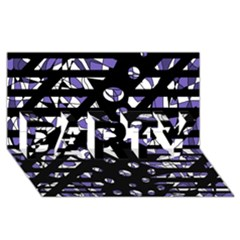 Purple Freedom Party 3d Greeting Card (8x4)
