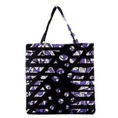 Purple Freedom Grocery Tote Bag by Valentinaart