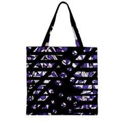 Purple Freedom Zipper Grocery Tote Bag by Valentinaart