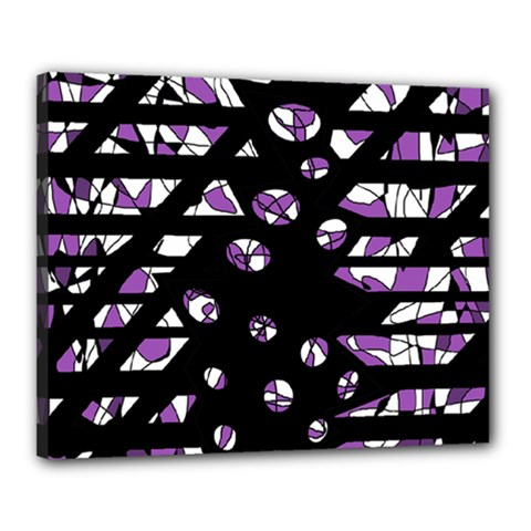 Violet Freedom Canvas 20  X 16  by Valentinaart