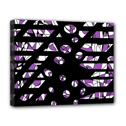 Violet Freedom Deluxe Canvas 20  X 16   by Valentinaart
