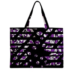 Violet Freedom Zipper Mini Tote Bag by Valentinaart
