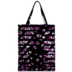 Magenta Freedom Zipper Classic Tote Bag by Valentinaart