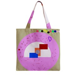 Decorative Abstract Circle Zipper Grocery Tote Bag by Valentinaart