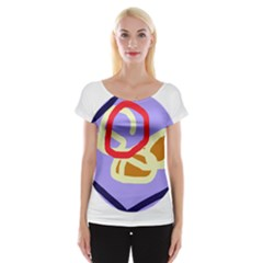 Abstract Circle Women s Cap Sleeve Top by Valentinaart