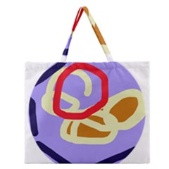 Abstract Circle Zipper Large Tote Bag by Valentinaart