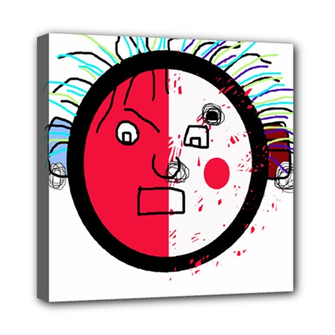 Angry Transparent Face Mini Canvas 8  X 8  by Valentinaart