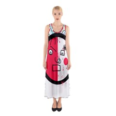 Angry Transparent Face Sleeveless Maxi Dress by Valentinaart