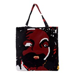 Abstract Face  Grocery Tote Bag by Valentinaart
