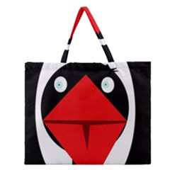 Duck Zipper Large Tote Bag by Valentinaart