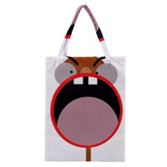 Funny Face Classic Tote Bag by Valentinaart