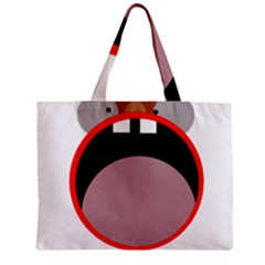 Funny Face Zipper Mini Tote Bag by Valentinaart