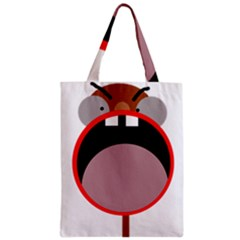 Funny Face Zipper Classic Tote Bag by Valentinaart