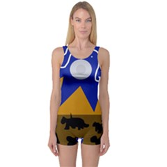 Decorative Abstraction One Piece Boyleg Swimsuit by Valentinaart
