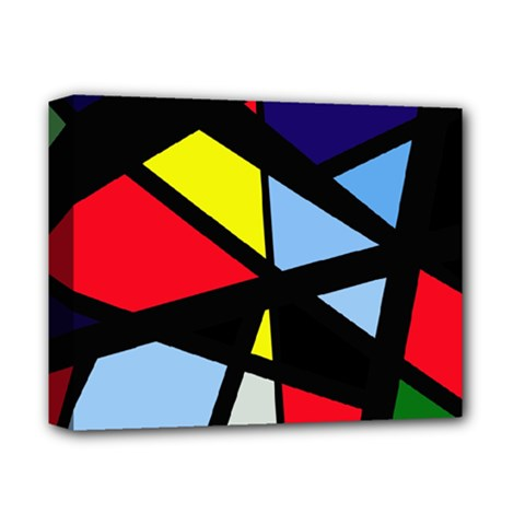Colorful Geomeric Desing Deluxe Canvas 14  X 11  by Valentinaart