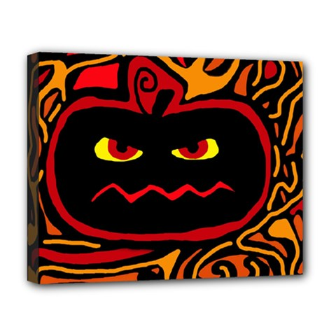Halloween Decorative Pumpkin Deluxe Canvas 20  X 16   by Valentinaart