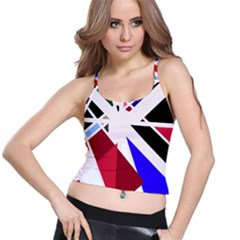 Decorative Flag Design Spaghetti Strap Bra Top by Valentinaart