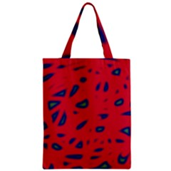 Red Neon Zipper Classic Tote Bag by Valentinaart