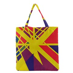 Hot Abstraction Grocery Tote Bag by Valentinaart