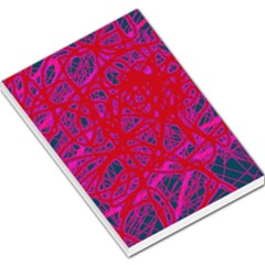 Red Neon Large Memo Pads by Valentinaart