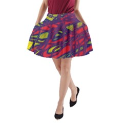 Abstract High Art A-line Pocket Skirt