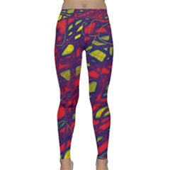 Abstract High Art Yoga Leggings  by Valentinaart