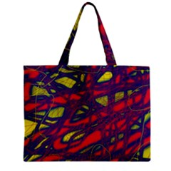 Abstract High Art Zipper Mini Tote Bag by Valentinaart