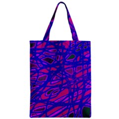 Blue Classic Tote Bag by Valentinaart