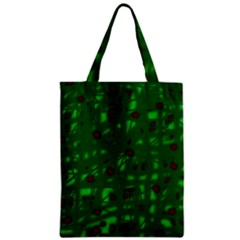 Green  Zipper Classic Tote Bag by Valentinaart
