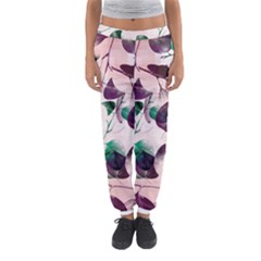 Spiral Eucalyptus Leaves Women s Jogger Sweatpants by DanaeStudio