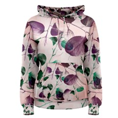 Spiral Eucalyptus Leaves Women s Pullover Hoodie by DanaeStudio