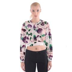 Spiral Eucalyptus Leaves Women s Cropped Sweatshirt by DanaeStudio