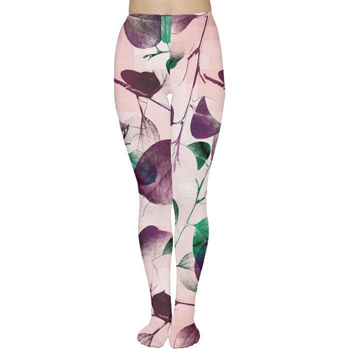 Spiral Eucalyptus Leaves Tights