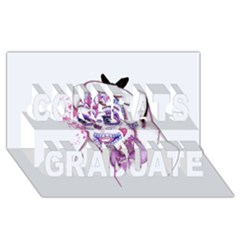 Alice Sugar Skull Congrats Graduate 3d Greeting Card (8x4)