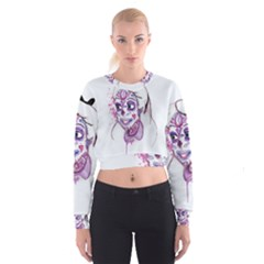 Alice Sugar Skull Women s Cropped Sweatshirt