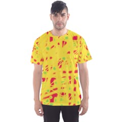 Yellow And Red Men s Sport Mesh Tee by Valentinaart