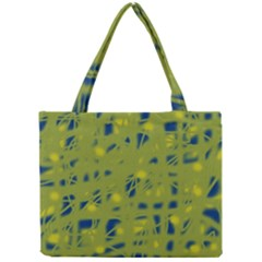 Green And Blue Mini Tote Bag by Valentinaart