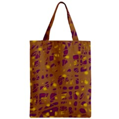 Brown And Purple Zipper Classic Tote Bag by Valentinaart