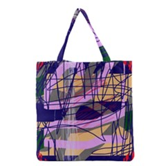 Abstract High Art By Moma Grocery Tote Bag by Valentinaart