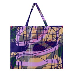 Abstract High Art By Moma Zipper Large Tote Bag by Valentinaart